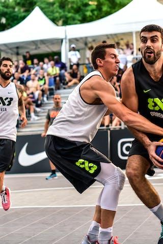 2 Gionata Zampolli (ITA) - 3 Andrea Negri (ITA) - 6 Vladimir Bulatovic (SRB) - Pavia v Obrenovac, 2016 WT Lausanne, Pool, 26 August 2016