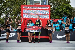 Rafal 'Lipek' Lipinski, pro dunker, winner of the dunk contest, FIBA 3x3 World Tour Rio de Janeiro 2014, Day 2, 28. September.