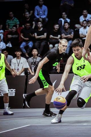 4 Muhammad Rizal Falconi (INA) - 3 Laurentius Steven Oei (INA) - 1 Christian Gunawan (INA) - 6 Edgars Krumins (LAT)