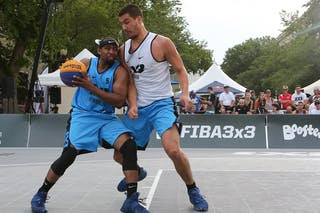5 Dominique Jones (USA) - 7 Mihailo Vasic (SRB) - Liman vs NY Harlem at FIBA 3x3 Saskatoon 2017