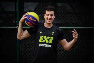 #7 Strusberg Emiliano, Team Concordia, headshot, FIBA 3x3 World Tour Rio de Janeiro 2014, 27-28 September.