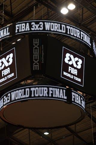 Four-sided scoreboard, FIBA 3x3 World Tour Tokyo Final 2014, 11-12 October.