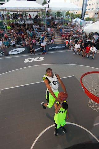 Dunk contest qualifier at the San Juan Masters 10-11 August 2013 FIBA 3x3 World Tour, San Juan, Puerto Rico. Day 2
