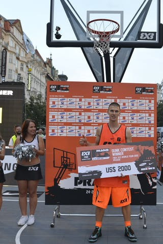 Dunk contest winner with the cheeck 2013 FIBA 3x3 World Tour Masters in Prague
