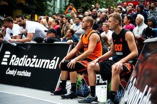 #4 Rduch Kamil. Team Kolobrzeg. #4 Jan Stehlík. Team Ostrava. 2014 World Tour Prague. 3x3 Game. 24 August. Day 2.