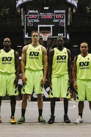 Team Saskatoon, team photo, FIBA 3x3 World Tour Final Tokyo 2014, 11-12 October.