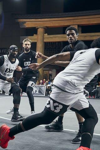 5 Kevin Corre (KSA) - 2 Khalid Abdel-gabar (KSA) - 7 Kidani Brutus (USA) - 4 Marcel Esonwune (USA)