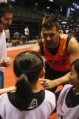 #5 Santana Angel, Team Bucharest, entertainment, kids, FIBA 3x3 World Tour Final Tokyo 2014, 11-12 October.