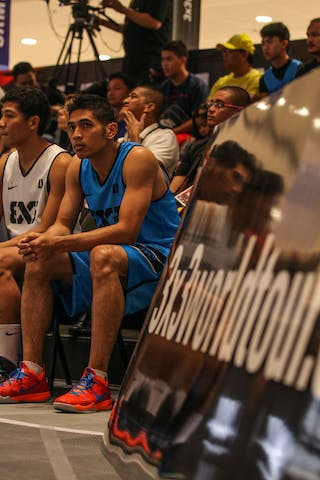 Players on the bench, 2014. World Tour Manila, 3x3game, 20. July.