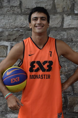 #7 Chaabane Yassine, Team Monastir, FIBA 3x3 World Tour Lausanne 2014, 29-30 August.