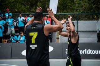 Team Sao Paulo, Santos Fabio and Del'Arco Rodrigo Diguinho, FIBA 3x3 World Tour Rio de Janeiro 2014, Day 2, 28. September.