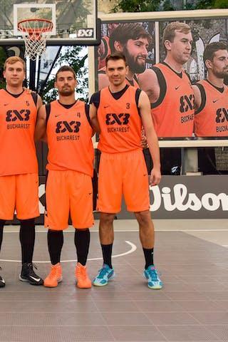 Team Bucharest; Daniel stefan BURUIANA (Romania); Adrian Cristian TRANDAFIR (Romania); Sergiu SOUCA (Romania); Victor CONSTANTIN (Romania), 2015 WT Lausanne, Pool, 28 August 2015