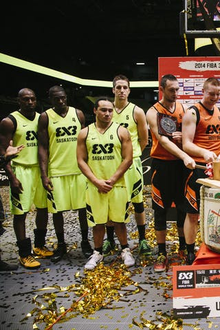 Team Novi Sad, ceremony, winner of the FIBA 3x3 World Tour Tokyo Final 2014, 11-12 october