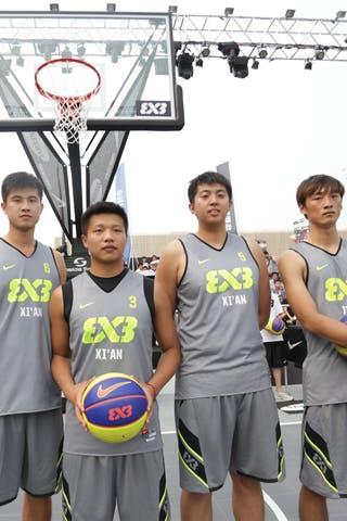 Team Xi'an, 2014 World Tour Beijing, 3x3game, 2-3 August.