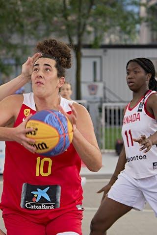 10 Aitana Cuevas (ESP) - FIBA 3x3, World Tour 2021, Mtl, Can, Esplanade Place des Arts. WS Semi-Final 2- CANADA vs. Spain