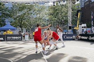 WS Semi-Final 1- USA vs. Austria, FIBA 3x3, World Tour 2021, MTL, Can, Esplanade Place des arts