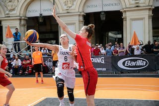 1 Michelle Plouffe (CAN) - 6 Caroline Hériaud (FRA)