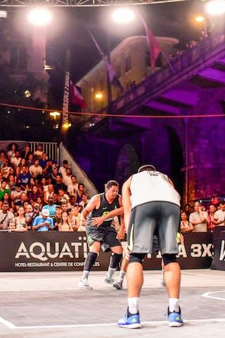 3 Bogdan Dragovic (SRB) - 4 Lazar Rasic (SRB) - 5 Yino Martinez (SUI) - 6 Oliver Vogt (SUI) - 4 Derrick Lang (SUI) - Zemun v Lausanne, 2016 WT Lausanne, Pool, 26 August 2016