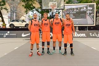 Team Zemun: Lazar RASIC (Serbia); Bogdan DRAGOVIC (Serbia); Nikola VUKOVIC (Serbia); Nemanja DRASKOVIC (Serbia), 2015 WT Lausanne, Pool, 28 August 2015