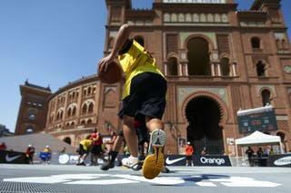 2012 FIBA 3x3 World Tour, Madrid MADRID, SPAIN - SEPTEMBER 07:  3X3 World Tour Madrid 2012 at Plaza de Toros de Las Ventas on September 07, 2012 in Madrid, Spain. (Photo by Manuel Queimadelos)