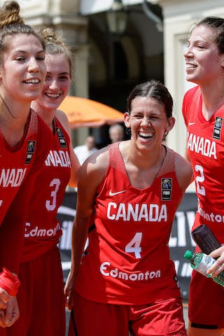 1 Michelle Plouffe (CAN) - 2 Katherine Plouffe (CAN) - 3 Paige Crozon (CAN) - 4 Brittany Johnson (CAN)