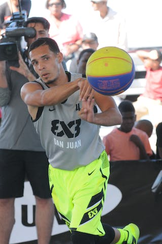 #4 Christian Rodriguez Santos. Team San Juan. 2014 World Tour Chicago. 3x3 game. 15 August. Day 1.