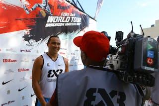 4 Michael Linklater (CAN) - Images outside the FIBA 3x3 World Tour Saskatoon 2017 venue