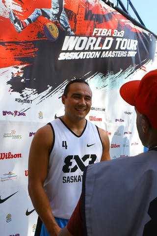 4 Michael Linklater (CAN) - Images outside the FIBA 3x3 World Tour Saskatoon 2017 venue