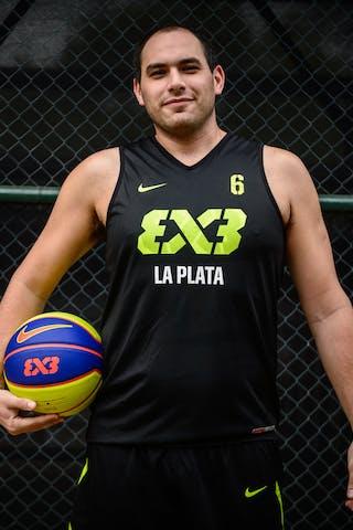 #6 Tellechea Julian, Team La Plata, FIBA 3x3 World Tour Rio de Janeiro 2014, 27-28 September.