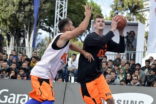 #5 Brezovica (Slovenia) Final Game Brezovica vs Novi Sad at the 2013 FIBA 3x3 World Tour final in Istanbul