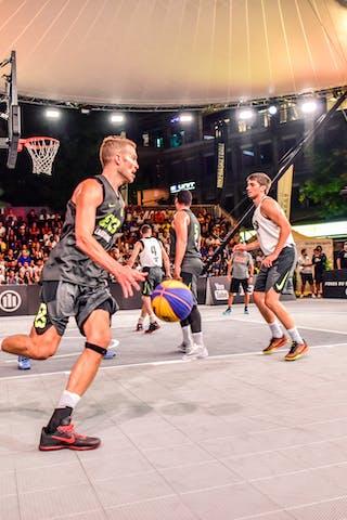 4 Lazar Rasic (SRB) - 5 Yino Martinez (SUI) - 6 Nemanja Draskovic (SRB) - 6 Oliver Vogt (SUI) - Zemun v Lausanne, 2016 WT Lausanne, Pool, 26 August 2016