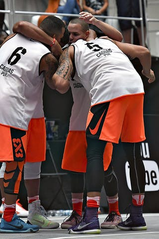 3 Jonathan Garcia (PUR) - 4 Edgardo Rivera (PUR) - 5 Luis Hernandez (PUR) - 6 Wil Martinez (PUR) - Caguas v New York City, 2016 WT Mexico City, Semi final, 17 July 2016