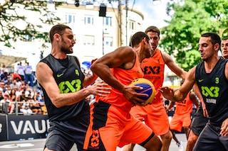 5 Nikola Vukovic (SRB) - 3 Bogdan Dragovic (SRB) - 5 Michael Lieffers (CAN) - 6 Nolan Brudehl (CAN) - 4 Lazar Rasic (SRB) - Saskatoon v Zemun, 2016 WT Lausanne, Last 8, 27 August 2016