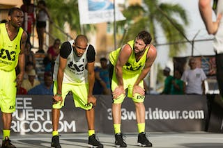 Justin Denis, Chris Weber and Jose Lopez at the San Juan Masters 10-11 August 2013 FIBA 3x3 World Tour, San Juan, Puerto Rico