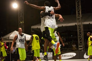 Chest bump at the San Juan Masters 10-11 August 2013 FIBA 3x3 World Tour, San Juan, Puerto Rico
