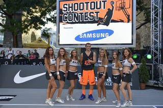 Winner of the samsung shootout contest 2013 FIBA 3x3 World Tour Masters in Lausanne