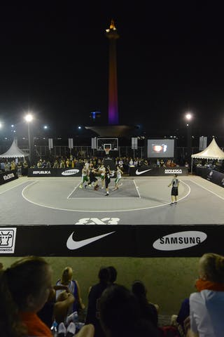 Panoramic view at night 2013 FIBA 3x3 World Tour final in Istanbul