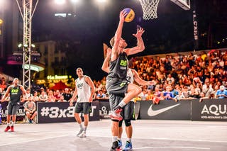 4 Derrick Lang (SUI) - 5 Nikola Vukovic (SRB) - 6 Oliver Vogt (SUI) - Zemun v Lausanne, 2016 WT Lausanne, Pool, 26 August 2016