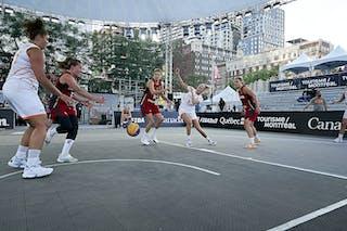 FIBA 3x3, World Tour 2021, Montréal, Canada, Esplanade de la Place des Arts. Wom NET VS GER