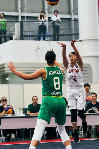 8 Alice Kunek (AUS) - 12 Naho Miyoshi (JPN) - Game1_Pool B_Japan vs Australia
