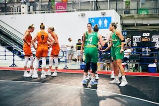 3 Loyce Bettonvil (NED) - 9 Esther Fokke (NED) - 11 Jill Bettonvil (NED) - 18 Fleur Kuijt (NED) - 8 Alice Kunek (AUS) - 7 Keely Froling (AUS) - 5 Maddie Garrick (AUS) - 4 Bec Cole (AUS) - Game5_Final_Netherlands vs Australia