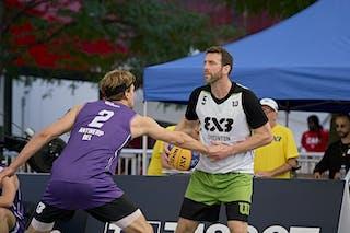 FIBA 3x3, World Tour 2021, Montréal, Canada, Esplanade Place des Arts. MEN Antwerp vs. Edmonton
