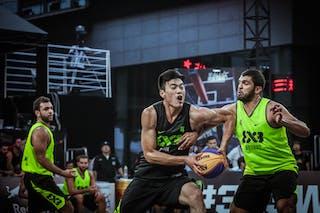 4 郭 Xiao 晓 Guo (CHN) - 4 Karam Mechref (LIB) - Beirut v Jinan, 2016 WT Beijing, Pool, 16 September 2016
