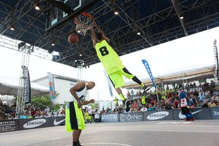 Dunk contest final at the San Juan Masters 10-11 August 2013 FIBA 3x3 World Tour, San Juan, Puerto Rico. Day 2