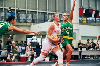 8 Alice Kunek (AUS) - 5 Maddie Garrick (AUS) - 9 Esther Fokke (NED) - Game3_Pool B_Netherlands vs Australia