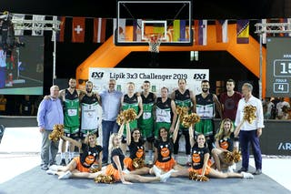 (Lipik Challenger 2019), price ceremony 1st place Vrbas 2nd place Kranj 3rd place Novi Sad 4th place Ventspils Ghetto