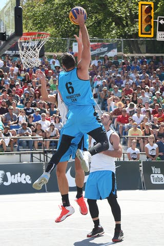 6 Igor Lebov (CAN) - Ljubljana vs Hamilton in the FIBA 3x3 World Tour Saskatoon 2017 semi final