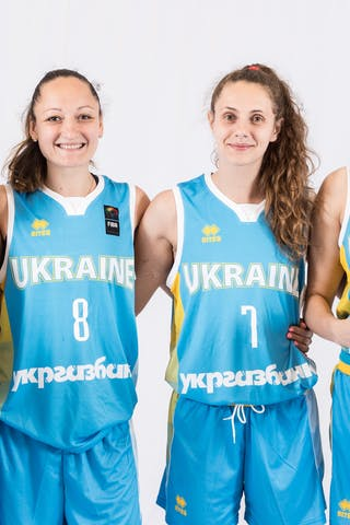 5 Yevheniia Spitkovska (UKR) - 13 Olena Boiko (UKR) - 8 Krystyna Filevych (UKR) - 7 Nataliia Tsiubyk (UKR)