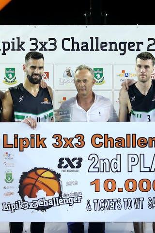 (Lipik Challenger 2019), price ceremony 2nd place Kranj