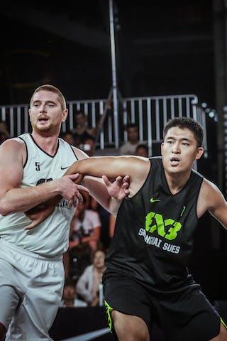 7 Kai Bu (CHN) - 5 Marko Savić (UAE) - Novi Sad AlWahda v Shanghai SUES, 2016 WT Beijing, Pool, 16 September 2016
